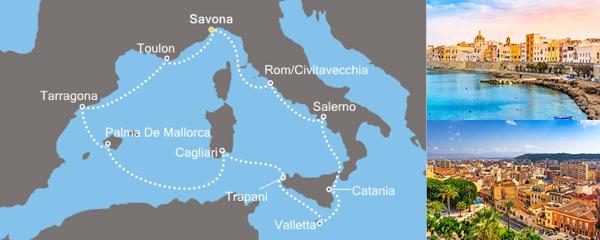 Routenverlauf Entdeckungen im Mittelmeer am 06.05.2019