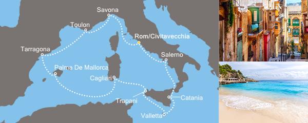 11 Tage Entdeckungen im Mittelmeer mit der Costa neoRiviera