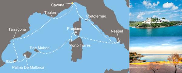 Routenverlauf Costa Mediterraner Genuss