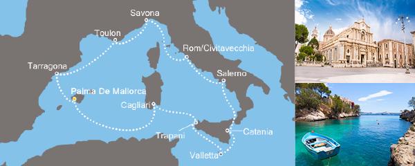 Routenverlauf Entdeckungen im Mittelmeer am 09.05.2019