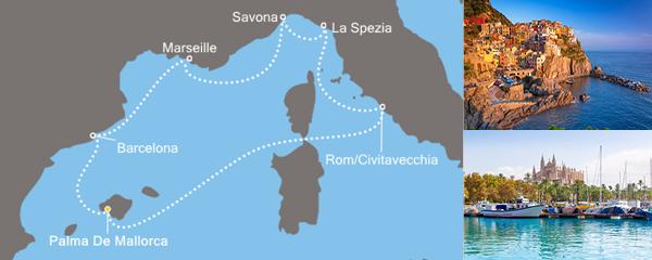 Routenverlauf Funkelndes Mittelmeer am 19.11.2019