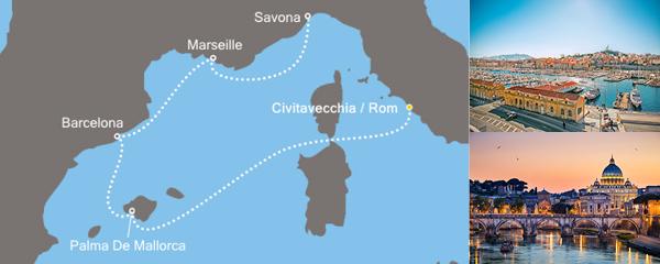 Routenverlauf Funkelndes Mittelmeer am 08.11.2019