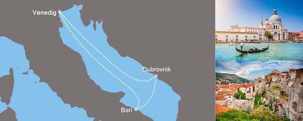 Routenverlauf Entlang der Adria am 23.04.2019