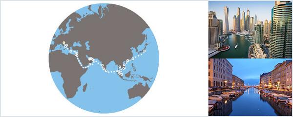Routenverlauf Auf den Spuren von Marco Polo am 08.03.2019