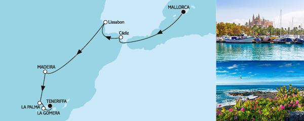 10 Tage Mallorca bis Teneriffa