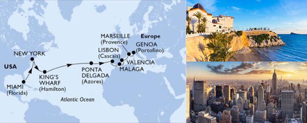 Routenverlauf MSC MSC Grand Voyages mit MSC Divina
