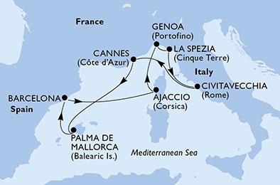 7 Tage Mittelmeer