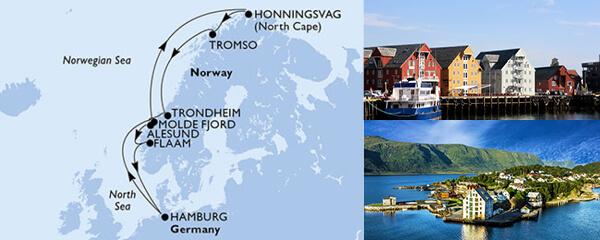 Routenverlauf MSC Nordeuropa mit MSC Preziosa