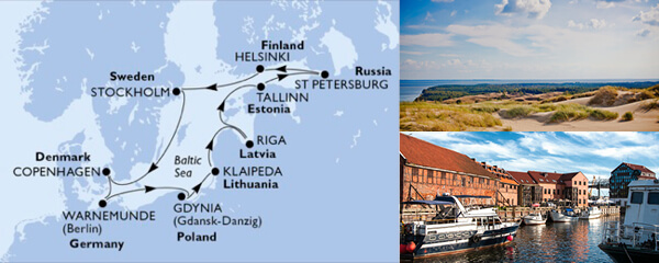 Routenverlauf MSC Nordeuropa mit MSC Poesia