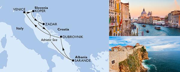 Routenverlauf MSC Mittelmeer mit MSC Musica