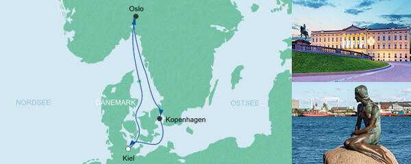 AIDA Pauschal Angebot Kurzreise ab Kiel 2