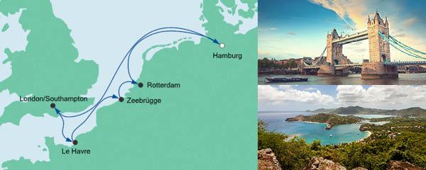 Routenverlauf Metropolen ab Hamburg 1 am 18.04.2020