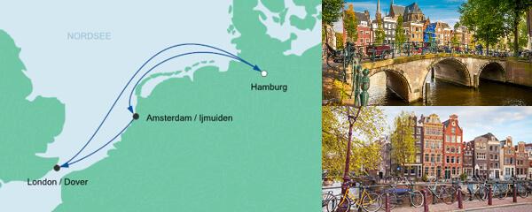 Routenverlauf Kurzreise ab Hamburg am 13.09.2019