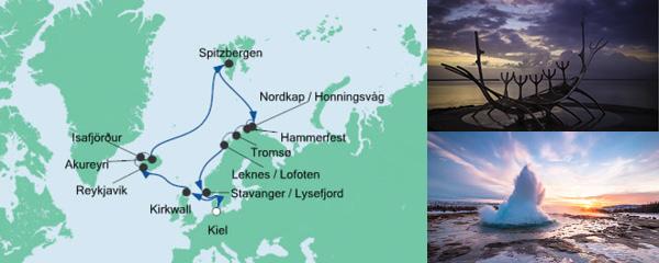 Routenverlauf Highlights am Polarkreis am 22.07.2021