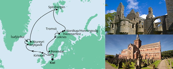 Routenverlauf Highlights am Polarkreis am 08.08.2021