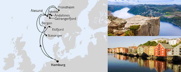 AIDA Seetours Angebot Norwegens Fjorde