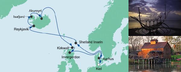 AIDA Spezialangebot Nordische Inseln mit Island