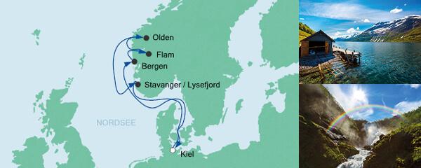 AIDA Verlockung der Woche Angebot Norwegen ab Kiel