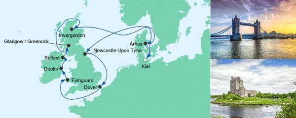 AIDA Seetours Angebot Großbritannien & Irland