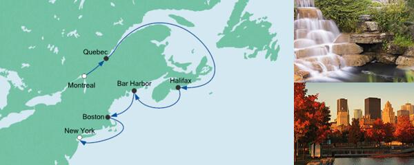 AIDA Seetours Angebot Von Montreal  nach New York