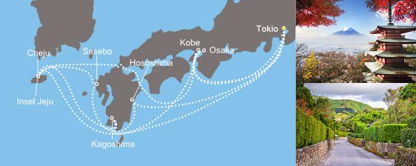 Routenverlauf Asien ab/bis Tokio am 05.05.2019