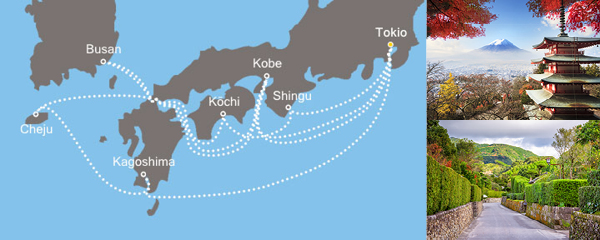 Routenverlauf Asien ab/bis Tokio am 03.06.2019