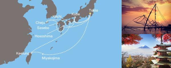 Routenverlauf Asien ab Tokio am 11.05.2019