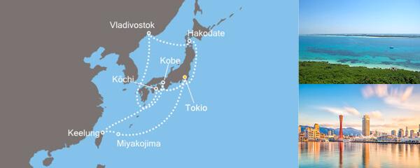 Routenverlauf Asien ab Tokio am 18.05.2019
