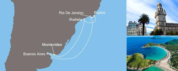 Routenverlauf Die Lichter von Rio am 26.12.2018
