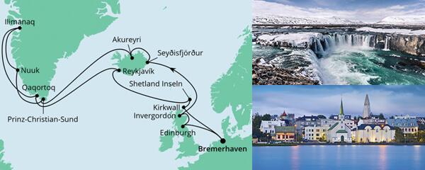 AIDA Spezialangebot Island & Grönland