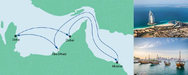 Routenverlauf Orient ab Abu Dhabi am 12.11.2019