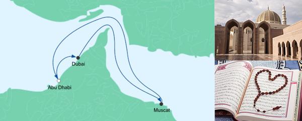Routenverlauf Orient ab Abu Dhabi am 31.12.2019