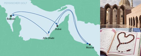 Routenverlauf Orient ab Abu Dhabi am 17.03.2020