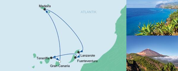 AIDA Pauschal Angebot Kanaren & Madeira 2
