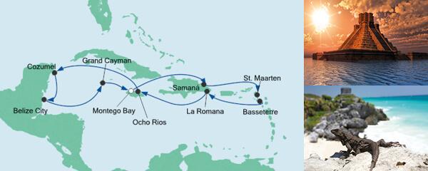 AIDA Pauschal Angebot Karibik & Mexiko 2