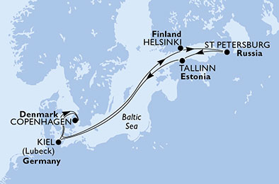 7 Tage Nordeuropa