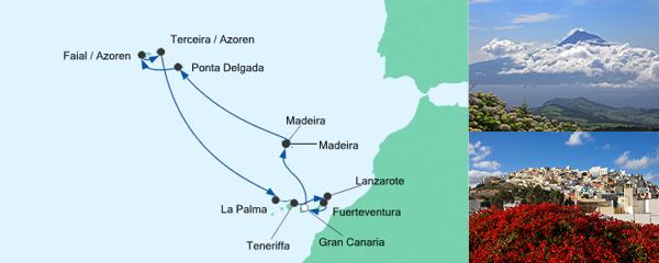 Mein Schiff Special EURESAreisen Festtagsreise Kanaren & Azoren