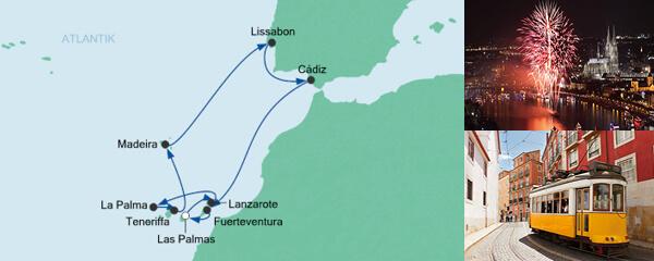 AIDA Seetours Angebot Silvesterreise Kanaren & Lissabon