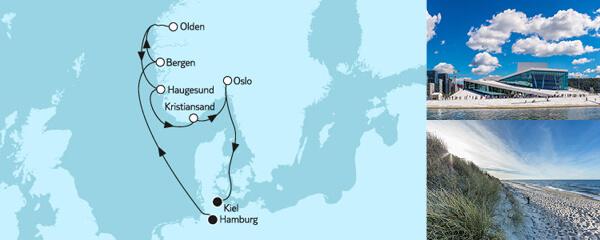 Routenverlauf Norwegen mit Olden am 11.08.2020