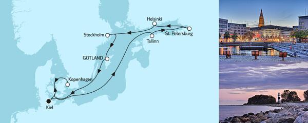 10 Tage Ostsee mit St. Petersburg & Gotland