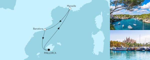 4 Tage Kurzreise mit Marseille & Barcelona I