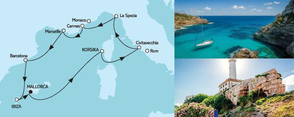 10 Tage Mittelmeer mit Ibiza