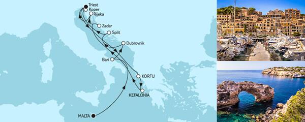 Adria mit Dubrovnik & Korfu