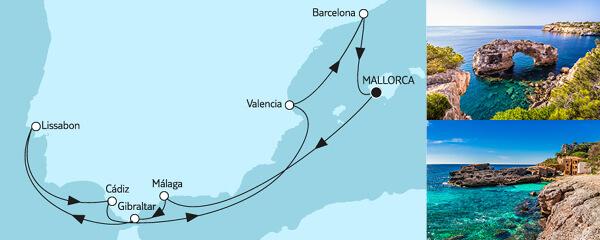 Mittelmeer mit Lissabon II