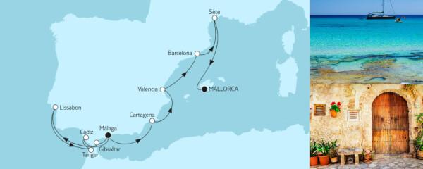 14 Tage Mittelmeer von Málaga bis Mallorca mit der Mein Schiff Herz