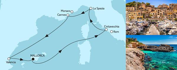 7 Tage Mittelmeer mit Valencia I
