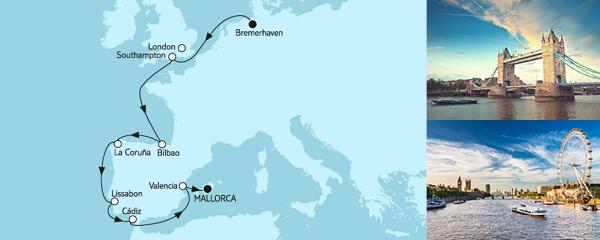 Bremerhaven bis Mallorca