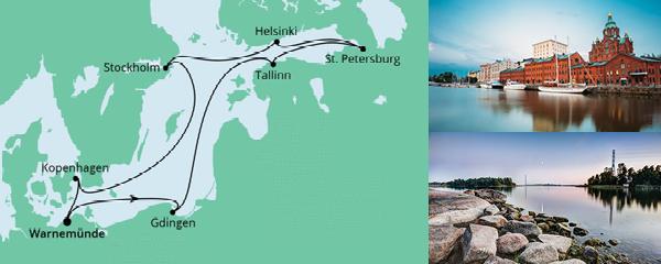 Routenverlauf Ostsee ab Warnemünde 2 am 30.05.2021