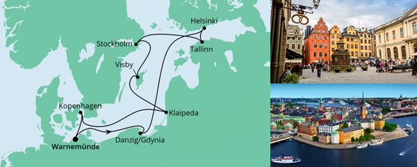Routenverlauf Ostsee ab Warnemünde 2 am 24.06.2022