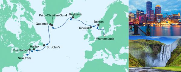 AIDA Seetours Angebot Von Warnemünde nach New York 2